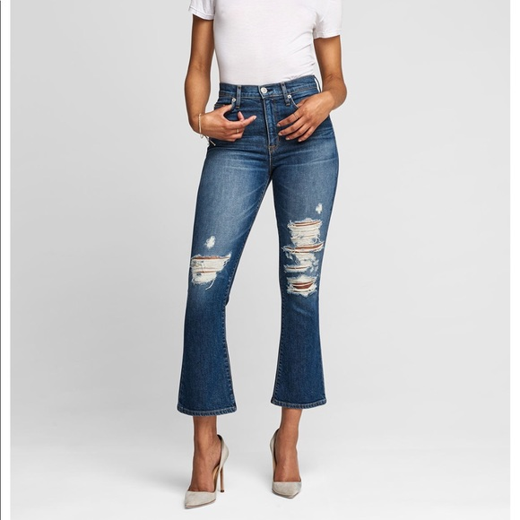 NEW • Hudson • Brix High Rise Crop Bootcut Jeans
